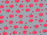 Jersey Mini Äpfel, grau
