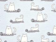 Jersey Katzen & Wollknäul, hellblau