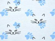 Jersey Katzengesichter & Tatzen, hellblau