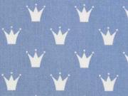 Baumwolle Kronen, jeansblau