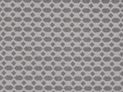 Baumwolle Waben Rauten, grau