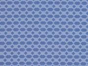 RESTSTÜCK 45 cm Baumwolle Waben Rauten, jeansblau