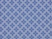 Baumwolle Kreuzblume, jeansblau