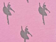 French Terry Glitzer Ballerina, rosa