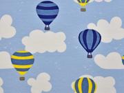 Jersey Wolken Heißluftballons, hellblau
