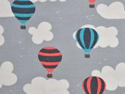 Jersey Wolken Heißluftballons, grau