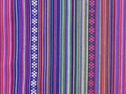 Mexiko Stoff Ethno Look Streifen & Borten, lila