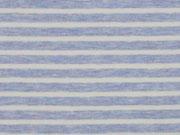 Jersey Streifen garngefärbt, blau melange weiß
