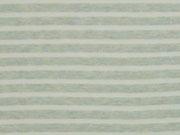 Jersey Streifen garngefärbt, hellgrün melange