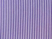 Baumwolle Mini Streifen, lila/weiß