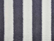 Frottee Streifen, dunkelgrau cremeweiss