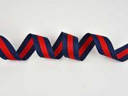 gestreiftes Webband 4 cm breit,  rot navy