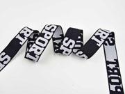 Gummiband Sport 32 mm breit, weiß schwarz