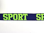 Gummiband Sport 32 mm breit, neon gelb navy