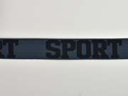 Gummiband Sport 32 mm breit, schwarz dunkelgrau