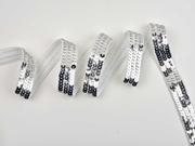 Paillettenband 20 mm breit, silber