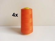 4 x 2743 m Overlock-Garn (3000 yds), orange 422