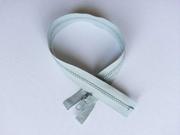 Reißverschluss 45 cm teilbar, hellgrau