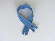 Reißverschluss 30 cm nicht teilbar, stahlblau