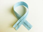 Reißverschluss 30  cm nicht teilbar, hellblau
