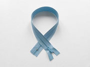 Reißverschluss 35 cm nicht teilbar, silber/hellblau