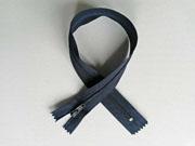 Reißverschluss 35 cm nicht teilbar, dunkelgrau-blau