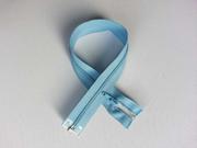 Reißverschluss 40 cm teilbar, hellblau