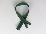Reißverschluss 50 cm teilbar, dunkelgrün