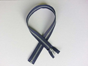 Reißverschluss 60 cm teilbar, dunkelblau-silber