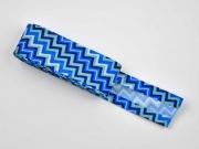 Schrägband ZickZack als 2m-Stück, blau/türkis