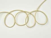 Gummikordel 3 mm, helles beige
