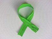 Reißverschluss 35 cm nicht teilbar, leuchtend grün