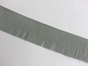 Fransenband Wildleder Optik 5 cm breit, mittelgrau