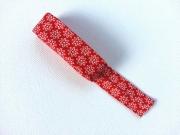 Schrägband 2m-Stück Streublümchen, rot