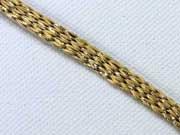 Glitzer Kordel flach 7mm, gold