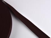 Gurtband 3 cm Polypropylen, dunkelbraun