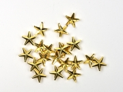 20 Sterne Ziernieten zum Durchstecken, goldfarbig