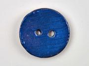 Kokosknopf rund 35mm Holzknopf glasiert, blau