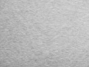 RESTSTÜCK 42 cm Sweatstoff angeraut uni, hellgrau meliert