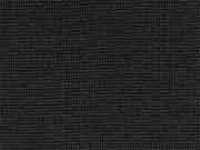 glattes Bündchen uni - schwarz