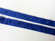 Druckerband Knopfabstand 2.5 cm, royalblau