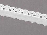 Wäschespitze 1.5 cm breit Meterware, weiß