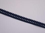 elastisches Band mit Rüschenrand 1.5 cm,dunkelblau