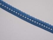 elastisches Band mit Rüschenrand 1.5 cm, jeansblau