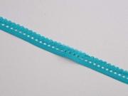 elastisches Band mit Rüschenrand 1.5 cm, türkis