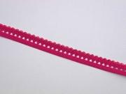 elastisches Band mit Rüschenrand 1.5 cm, beere