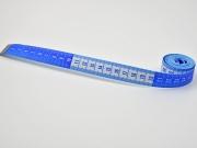 Maßband 150 cm lang, blau