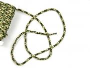 geflochtene Kordel Camouflage 4 mm grün braun