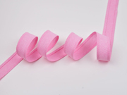Schrägband Chambray, rosa