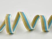 Ripsband gestreift 16 mm, türkis taupe